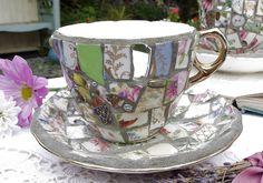 Mosaic Tea Cup & Saucer