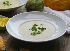 Cream of Artichoke Soup // shutterbean Artichoke Soup, Bisque Recipe, Artichoke Hearts, Wine Recipes, Paleo Recipes, Soup Recipes, Paleo Food, Crockpot Recipes