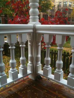 "3 1/2 x 20"" Colonial Porch Spindles, custom porch railing, Chicago, IL"