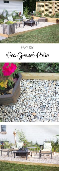 Pea Gravel Patio DIY 2019 Increase your backyard living space with this DIY Pea Gravel Patio! The post Pea Gravel Patio DIY 2019 appeared first on Backyard Diy. Patio Diy, Budget Patio, Backyard Pergola, Backyard Landscaping, Gazebo, Pergola Ideas, Pergola Kits, Landscaping Ideas, Easy Patio Ideas