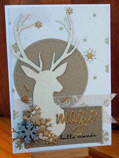 Diy christmas cards ideas glitter 40 New Ideas Homemade Christmas Cards, Christmas Cards To Make, Christmas Deer, Christmas Greeting Cards, Homemade Cards, Handmade Christmas, Holiday Cards, Christmas Crafts, Karten Diy