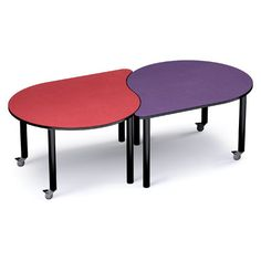 """Russwood Palette 58"""" x 48"""" Novelty Activity Table Top Finish: Eggplant, Side Finish: Gray"""
