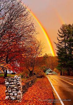 Double Rainbow, Quechee, Vermont | The Best Travel Photos
