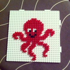 Octopus hama beads by kimrobine