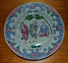 Assiette dans le style chinois 19eme siecle / chinese famille rose plate 19th probably SAMSON. OSELLAME'S COLLECTION.