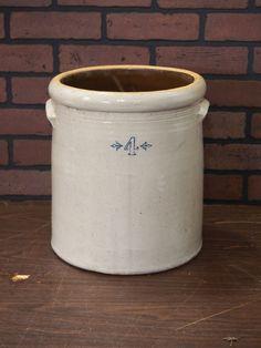4 Gallon Stoneware Crock. Stoneware Crocks, Auction, Antiques, Mini, Antiquities, Antique