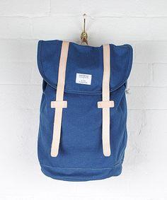 Sandqvist Navy Stig Backback | Men's Bags by Sandqvist | Liberty ...