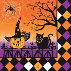Haunted Halloween Beverage Napkins - Halloween - Holidays PlatesAndNapkins.com #halloween #partysupplies