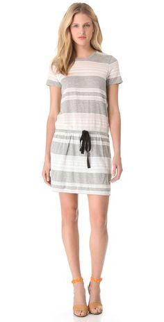 Gray and lace t shirt dress