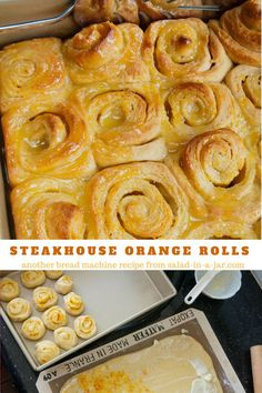 They are sweet, orange-y, and a great way to start the day. (a bread machine recipe)