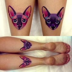 Unconventional Cat Tattoos by Sasha Unisex