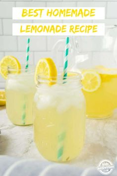 You must try this simple 3-ingredient homemade lemonade recipe this summer. I love that it takes less than 5 minutes and has no preparation! Homemade Strawberry Lemonade, Homemade Lemonade Recipes, Watermelon Lemonade, Fresco, Best Lemonade, Best Food Ever, How To Squeeze Lemons, Kid Friendly Meals, Summer Drinks