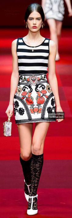 Farb-und Stilberatung mit www.farben-reich.com - Dolce & Gabbana Spring 2015 RTW