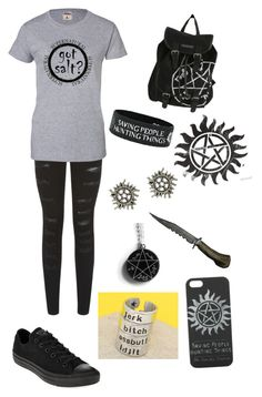 """""""~Supernatural~"""" by rachelxclifford ❤ liked on Polyvore featuring Parisian and Converse"""