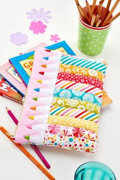 Stitch your very own patchwork pencil pouch in our May 2015 issue, out now!