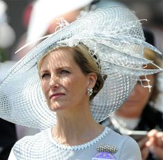 The Countess of Wessex looked stunning in a Jane Taylor hat.
