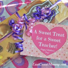 Simple Teacher Valentine... with free printable tag