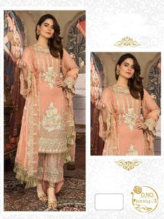 Excited to share this item from my #etsy shop: VeroniQ Trends-Pakistani Designer Suit in Georgette with Embroidery -4 Colors,Punjabi Suit,Salwar Suit,Festive Wear,Indian Dress-VF #clothing #women #dress #wedding #sari #no #fitflare #boat #braceletsleeve