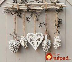 Z obyčajných konárikov vytvorili neuveriteľné veci: Inšpirácia na výrobu krásnych prírodných dekorácií! Xmas Decorations, Clothes Hanger, Gift Wrapping, Wrapping Ideas, Diy And Crafts, Wraps, Rustic, Crafty, Home
