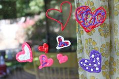 puffy pain window clings..Green Owl Art: Valentines Day