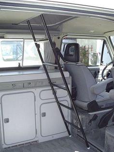 Upper Bunk Ladder [Vanagon/Eurovan] – GoWesty Camper Products – parts supplier for VW Vanagon, Eurovan, and Bus