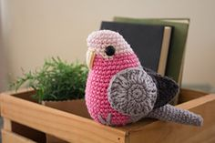 Ravelry: Amigurumi Pink and Grey Galah pattern by Ashley Radalj