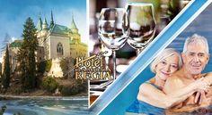 Senior pobyt so skvelým wellness a polpenziou v Hoteli Regia *** v nádherných Bojniciach Alcoholic Drinks, Glass, Drinkware, Corning Glass, Liquor Drinks, Alcoholic Beverages, Liquor, Yuri, Tumbler