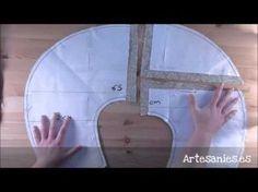 Videotutorial sobre cómo confeccionar un cojín de lactancia, práctico y económico. Con patrón descargable. Visita este tutorial: www.artesanies.es/blog/?p=86...