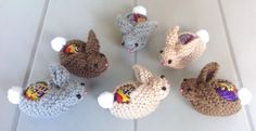 Easter Creme Egg Bunny Rabbit Covers X 6 hand knitted