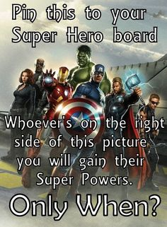 I don't get it Hawkeye is on the right but he has no super power that's what makes him awesome right?
