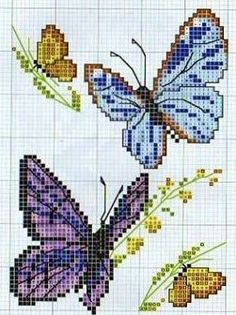 butterflies #cross-stitch