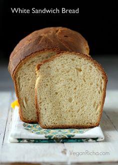 Vegan Richa: White Sandwich Bread. Vegan Recipe