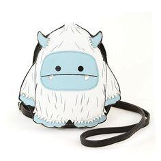 Sleepyville Critters - Yeti Monster Shoulder Crossbody Bag Black