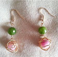 Aretes de jade $20