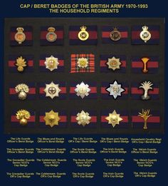 BADGE02 Military Awards, Military Ranks, Military Units, Military Insignia, Military History, Military Uniforms, Military Cap, British Army Uniform, British Uniforms