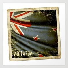 Grunge sticker of New Zealand flag Art Print by Lulla - $16.99 New Zealand Flag, Flag Art, Summertime, Grunge, Cottage, Icons, Stickers, Art Prints, Movie Posters