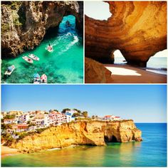 Portugal's coastline coves are the perfect place to grab some azure blue photos  #Travel #Portugal #Algarve