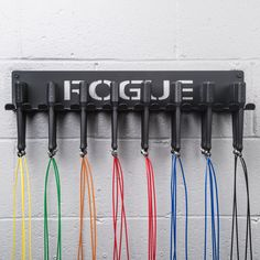 Rogue's Wall Mount Jump Rope Hanger is a solution for gym owners to keep ropes, bands and other easily tangled accessories in check. - Tap the pin if you love super heroes too! Cause guess what? you will LOVE these super hero fitness shirts! Crossfit Garage Gym, Crossfit Equipment, Home Gym Garage, No Equipment Workout, Speed Rope, Gym Interior, Gym Decor, Skipping Rope, Gym Design