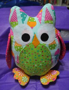 Blue ice cream owl pillow...perfect baby gift by ChickSprings, $32.00