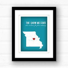 Missouri art // Missouri map // Missouri print by PaperFinchDesign