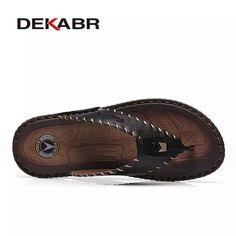 free shipping a0de3 4b214 17.58 50% de DESCUENTO DEKABR nueva llegada de los hombres de verano Flip  Flops playa de alta calidad sandalias antideslizantes Hombre Zapatillas  Zapatos ...