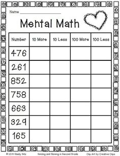 √ 30 Second Grade Math Worksheets . 16 Second Grade Math Worksheets. Mental Maths Worksheets, Math Activities, Mental Math Strategies, First Grade Math Worksheets, Number Worksheets, Alphabet Worksheets, Printable Multiplication Worksheets, Worksheets For Class 1, Addition Worksheets