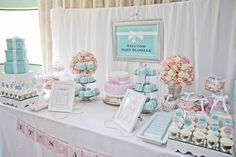 TIFFANY & CO Baby Shower Party Ideas | Photo 2 of 49 | Catch My Party