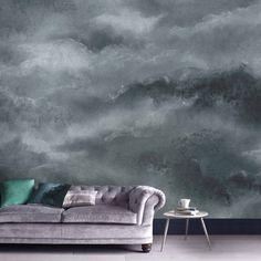 Vintage Cloud Midnight Bespoke Mural - GrahamBrownUS