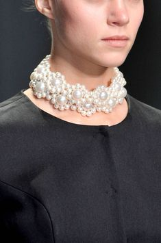 Spring 2014 Jewelry Trends - white necklaces- Rocha