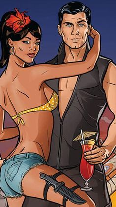 """Archer Season Premier Poster """"not the same without the drink"""""""