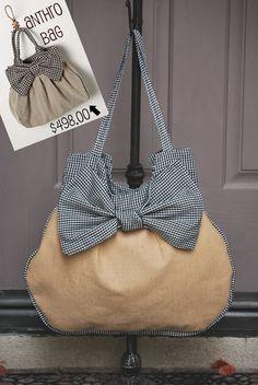 Great bag!   big bow bag diy - free tutorial