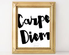 Carpe diem, printable quote, seize the day, typography, wall art, inspirational, wall decor, poster, digital download, 11x14, 8x10, 5x7 by AdornMyWall on Etsy