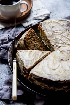 Vietnamese Coffee Cake with Brown Sugar Frosting