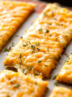 Cheesy Cauliflower Breadsticks (1) From: Deliciously Yum, please visit